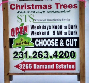Tree lot sign